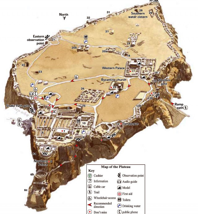 Fortress Masada on Castle Layout